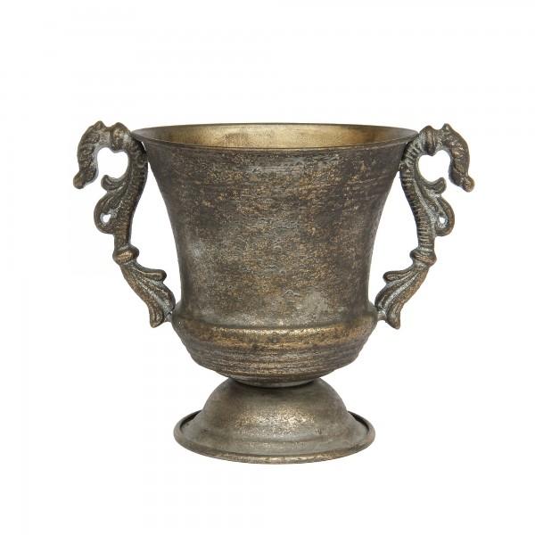 Pokal 'Avalon', messing-antik, T 14 cm, B 16,5 cm, H 20 cm