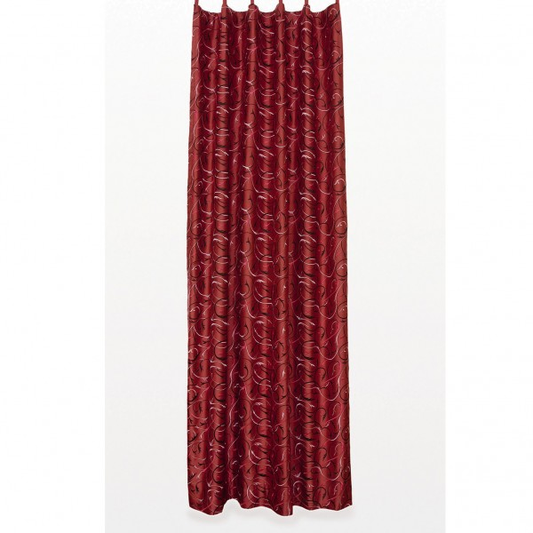 Seidenvorhang mit Band, weinrot, L 240 cm, B 130 cm
