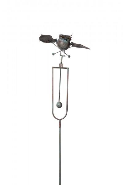 "Windpendler ""Uhu Baltazar"", rostbraun, L 40 cm, B 40 cm, H 140 cm"