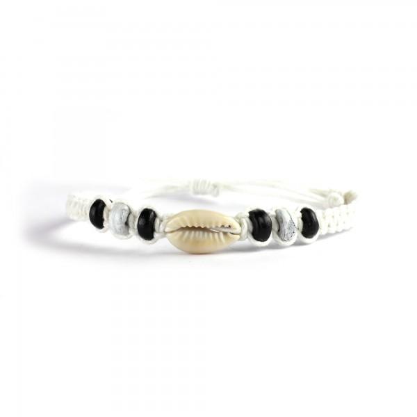 Armband geflochten, weiß, Ø 10 cm