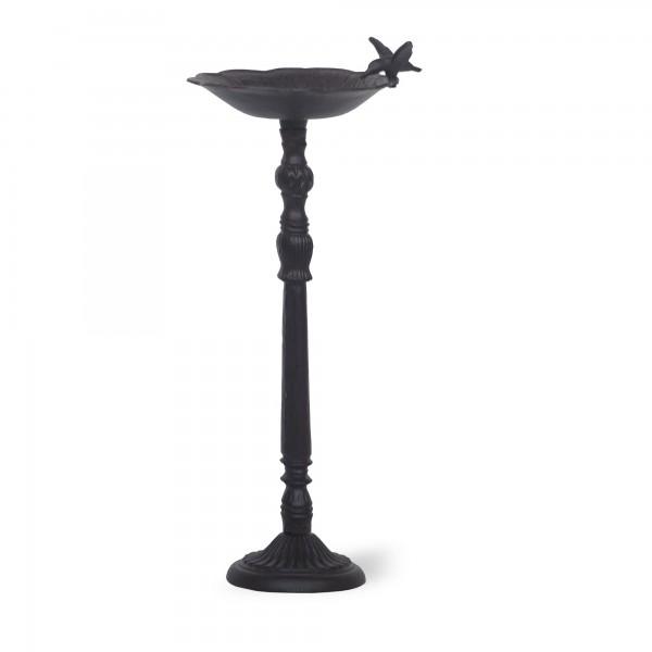Vogelfutterschale 'Malea', schwarz, T 25 cm, B 25 cm, H 66 cm