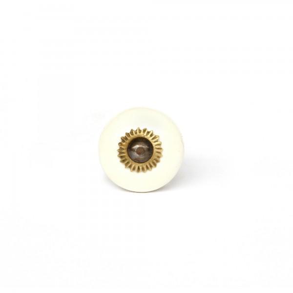 Türknauf rund, beige, Ø 2,5 cm