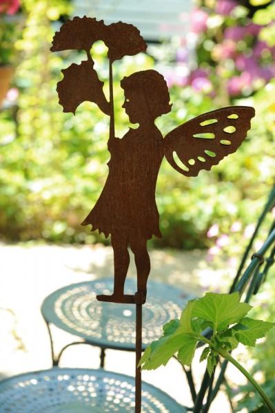 Gartenstecker 'Fay', rostbraun, H 126 cm