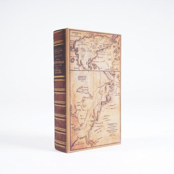 "Buch-Tresor ""Landkarte"", L 5 cm, B 13 cm, H 21 cm"