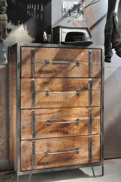 Schubladenschrank 'Derben', T 41 cm, B 81 cm, H 121 cm