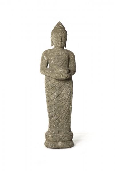 Naturstein 'Buddha' Behälter, grau, T 25 cm, B 40 cm, H 125 cm