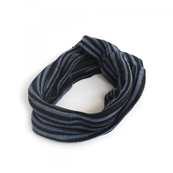 Stirnband, lilablau, schwarz, Ø 20 cm, H 20 cm