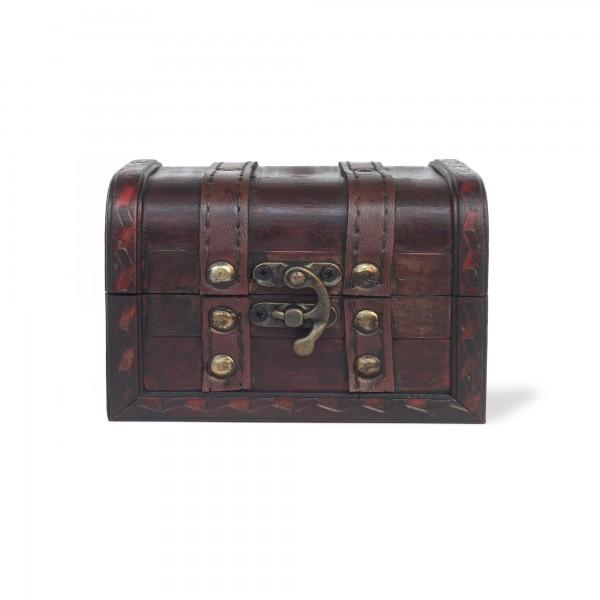 Kofferbox, braun, T 12 cm, B 9 cm, H 8,5 cm
