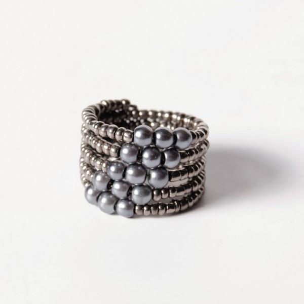 Ring 'Perlen', silber