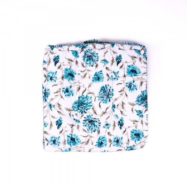 Sitzkissen 'Nahika', manuelles Blockprintverfahren, L 38 cm, B 38 cm, H 10 cm