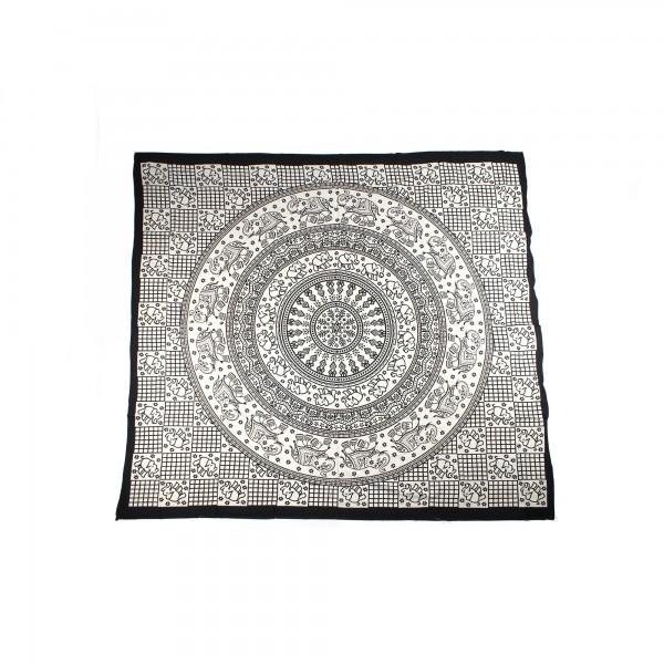 """Tagesdecke """"Chatura"""", aus 100% Baumwolle, schwarz/weiß, L 260 cm, B 220 cm"""