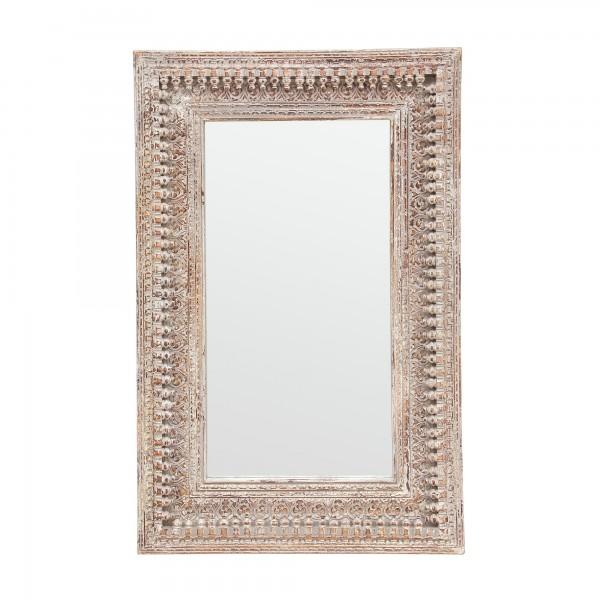 Spiegel mit Rahmen Schnitzereien, natur, T 5 cm, B 98 cm, H 148 cm
