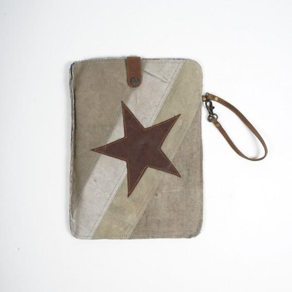 """iPad Tasche """"Star"""", beige, L 25 cm, B 30 cm"""