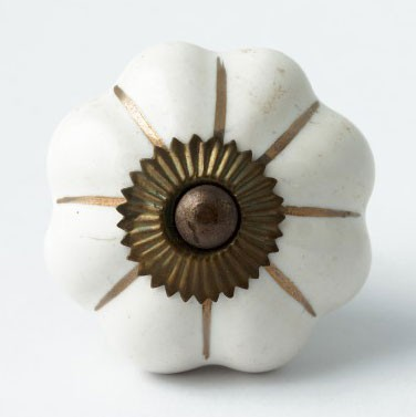 """Türknauf """"Blume"""", weiß, Ø 4,5 cm"""