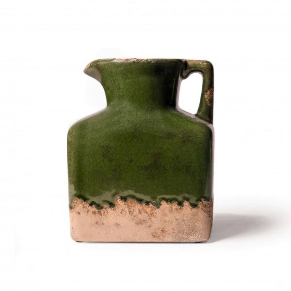 """Keramikvase """"Frejus"""", grün, L 10 cm, B 19 cm, H 23 cm"""