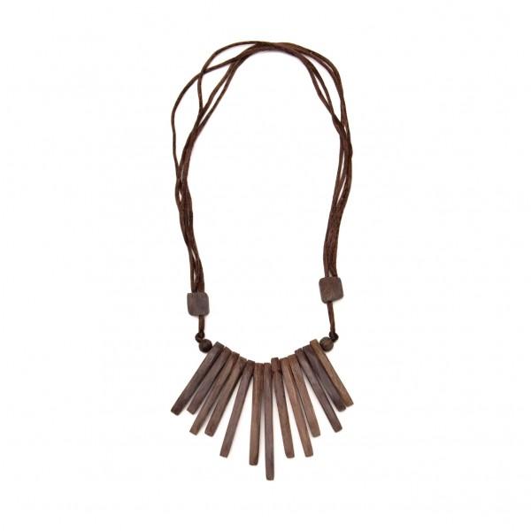 """Halskette """"Sticks"""" aus Holz, braun"""