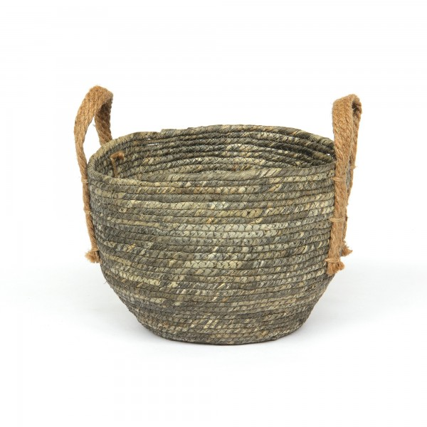 Korb 'Amatrice' S, schwarz, braun, Ø 23 cm, H 19 cm