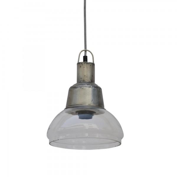 Lampe 'Jar', klar, grau, Ø 23 cm, H 29 cm