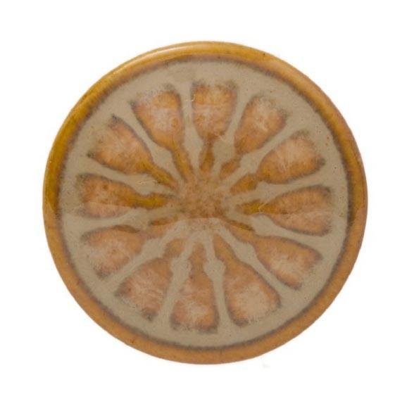 Knopf 12 Blüten rund, weiß/braun, Ø 3 cm