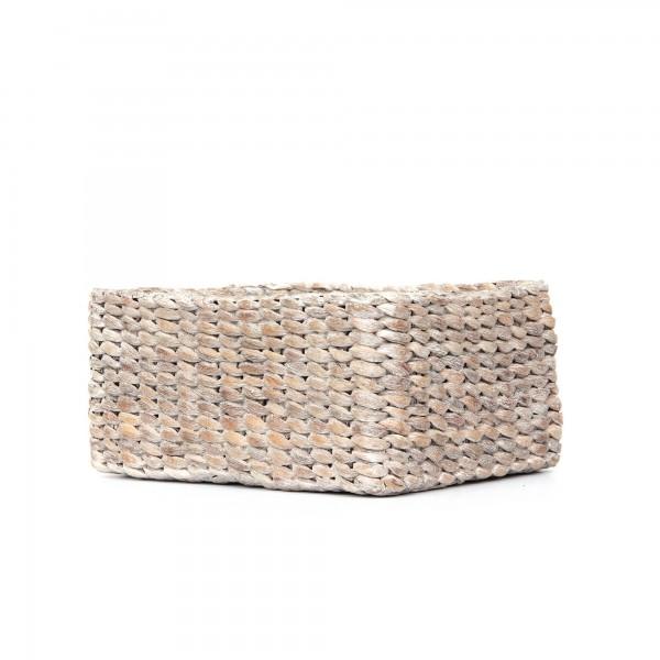 """Korb """"White wash M"""", aus Wasserhyazinthe, geweißt, L 20 cm, B 28 cm, H 11 cm"""