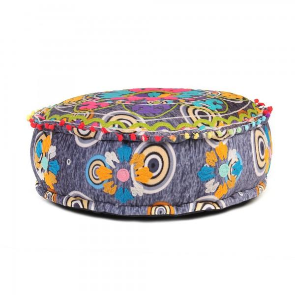 Pouf 'Colory', multicolor, Ø 60 cm