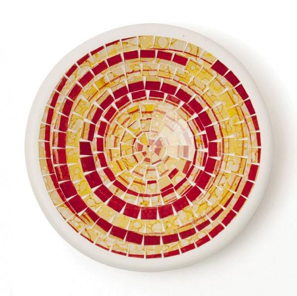 """Glasmosaikschüssel """"Matador"""" S, gelb/rot, Ø 19,5 cm, H 3,5 cm"""