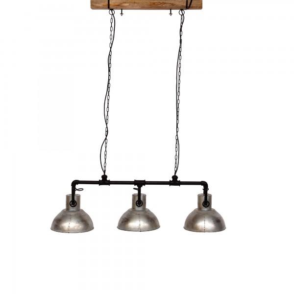 3er Leuchte 'Rod', schwarz, T 30 cm, B 125 cm, H 140 cm