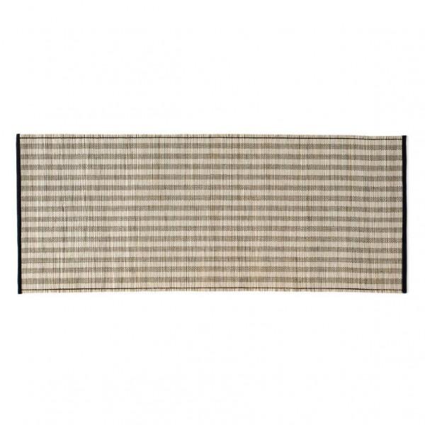 Tischläufer, grau-gestreift, L 90 cm, B 35 cm