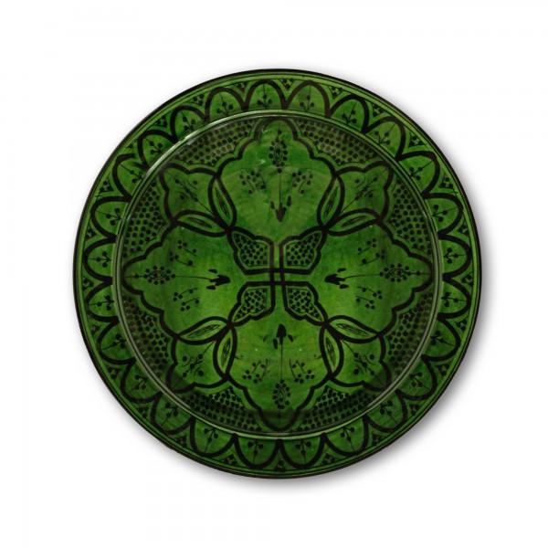 Zierschale, grün, Ø 40 cm, H 9 cm