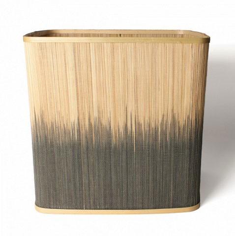 Wäschekorb aus Bambus L, natur/braun, L 33 cm, B 42 cm, H 42 cm
