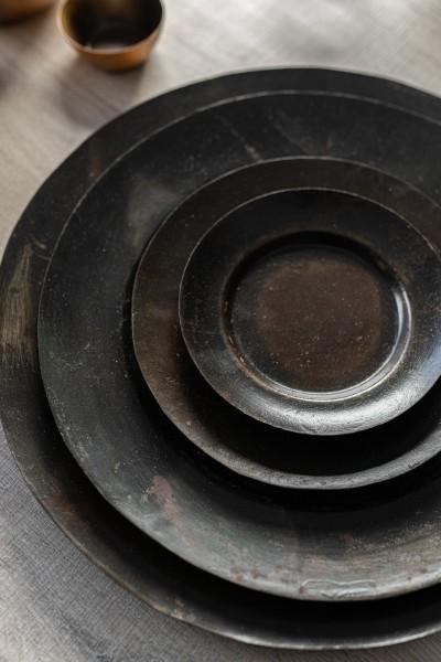 Ablage 'Kolyma' L, schwarz, Ø 35 cm