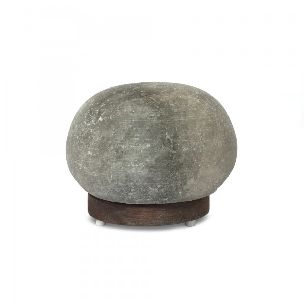 Salzlampe 'Düz Cür', grau, T 15 cm, B 15 cm, H 15 cm