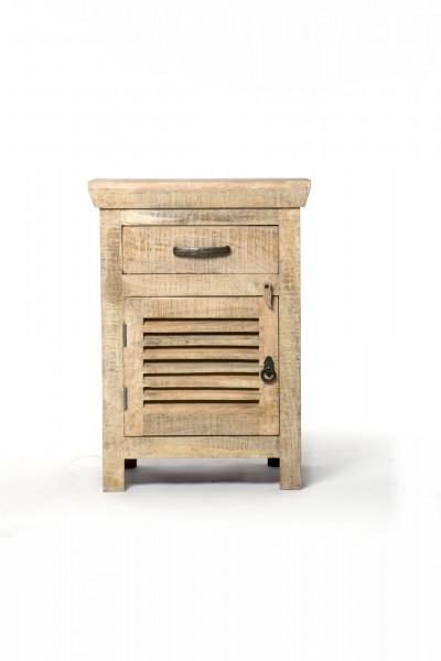 Schränkchen 'Wackwolf', mit 1 Tür und 1 Schublade, braun, T 40 cm, B 50 cm, H 70 cm