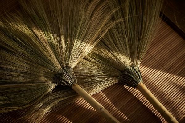 Besen aus Bambus, natur, T 100 cm, B 55 cm