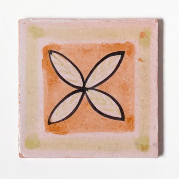 """Fliese """"carré jaune-orange"""", grün/weiß, L 10 cm, B 10 cm, H 1cm"""