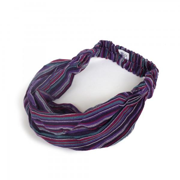 "Haarband ""St Louis"", aus 100% Baumwolle, lila/multicolor"