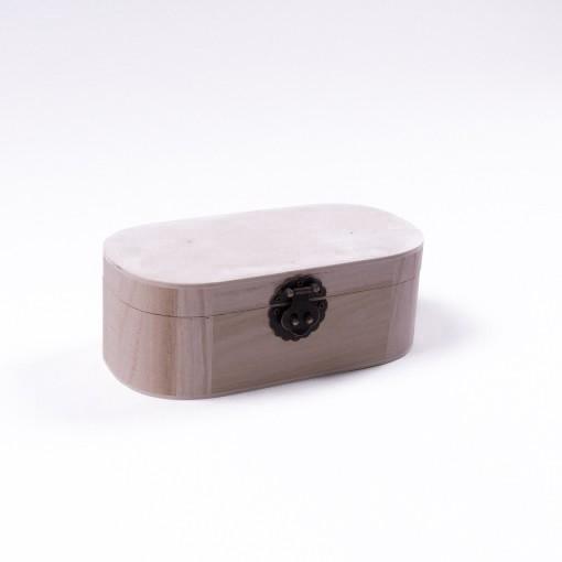 "Holztruhe ""Baihu antique"" mit Deckel, natur, L 10 cm, B 20 cm, H 7 cm"