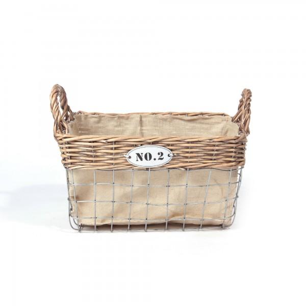 """Weidenkorb """"Debois No. 2"""", natur, L 23 cm, B 34 cm, H 18 cm"""