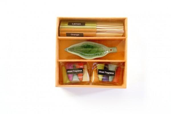 Räucher-Box 'Orange', multicolor, T 10 cm, B 10 cm, H 3 cm