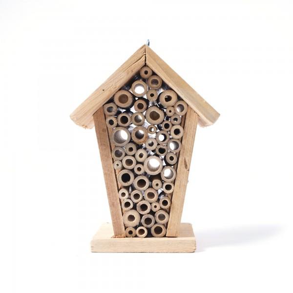 Insekten-Motel aus Fichtenholz und Bambus, L 12 cm, B 14 cm, H 20 cm