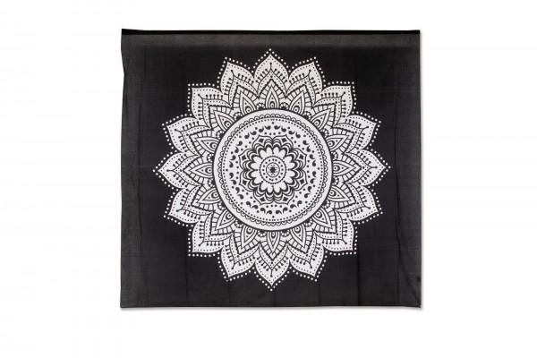 Multifunktionstuch, schwarz, weiß, T 216 cm, B 240 cm