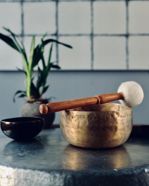 Klangschale 'old thado bowl', bronze, H 6,5 cm, Ø 12,5 cm