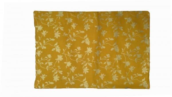 Geschenkpapier Blumen, senf, gold, T 76 cm, B 51 cm