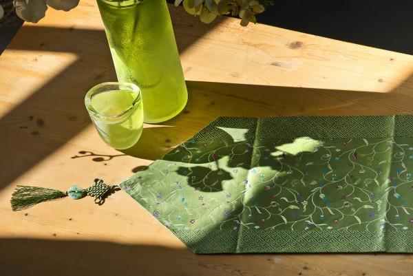 Tischläufer, grün, L 200 cm, B 32 cm