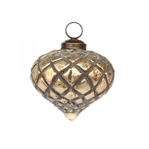 Anhänger Gitter, gold, T 8 cm, B 8 cm, H 8 cm