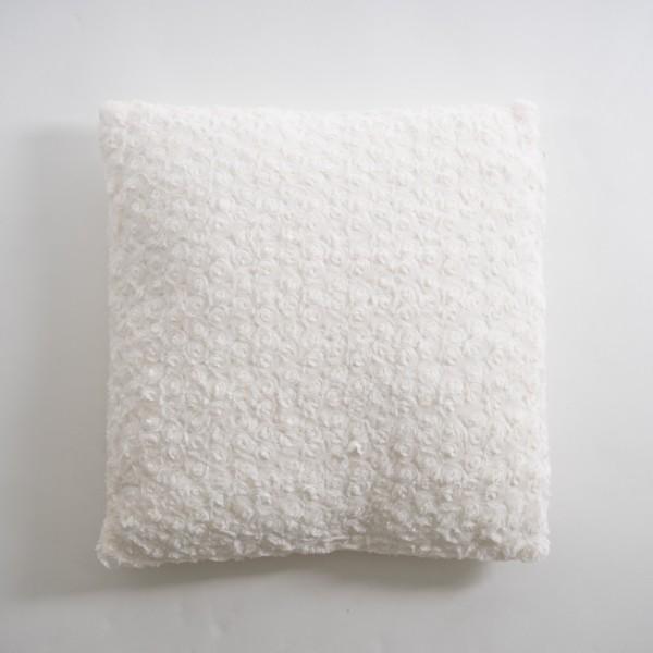 """Kissen """"Schnee"""", weiß, L 50 cm, B 50 cm"""