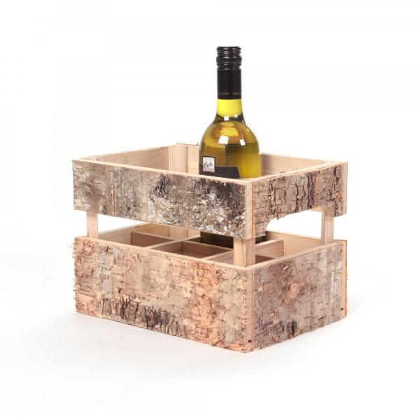 "Flaschenhalter ""Wetteren"", aus Holz, L 18 cm, B 26 cm, H 18 cm"