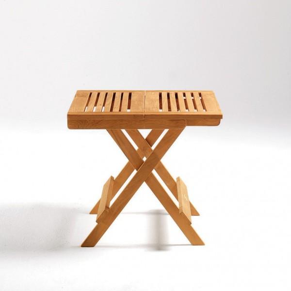 """Picknick-Tisch """"Helsingborg"""" aus Teakholz, natur, L 50 cm, B 50 cm, H 40 cm"""