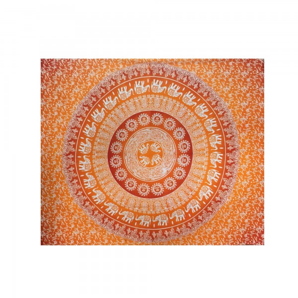 "Tagesdecke ""Golden Shine"", aus 100% Baumwolle, orange, L 210 cm, B 245 cm"