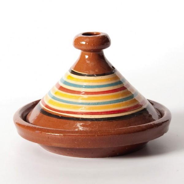 Tajine 'Kenitra', braun/multicolor, Ø 20 cm